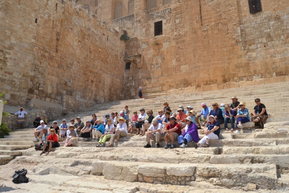 This was a picture of me reading the Sermon Peter delivered on the temple steps in Jerusalem on the day of Pentecost.  This was taken while visiting Israel in the summer of 2014.