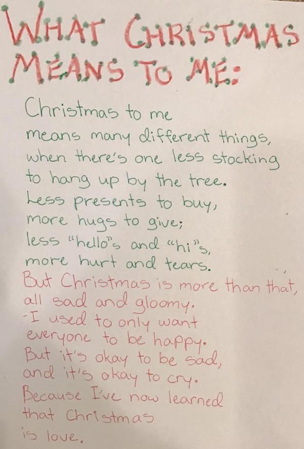 Josie's poem